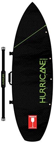 "Hurricane Surf Super Traveller 2-3 Surfboard Bag (Schwarz mit Lime Beschriftung, 6\' 4\"")"