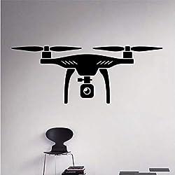 Air Drone Mur Sticker Vinyle Quadricoptère Wall Sticker Avion Accueil Mur Art Décor Idées Intérieur Amovible Kids Room Design 90 * 34 cm