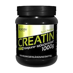Creapure KREATIN PULVER 1000g   Deutsche Qualität   VEGAN   Für den Kraftsport als Muskelaufbau Pulver   BIOMENTA Creatin Monohydrat/Kreatin Monohydrat