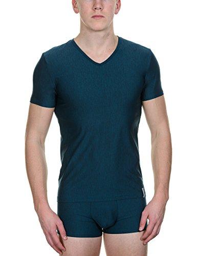 bruno banani Herren T-Shirt V-Shirt amazement Blau (petrol 107)