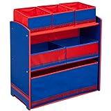 TW24 Kinderregal - Standregal - Spielzeugregal - Aufbewahrungsregal 6 Boxen mit Farbauswahl