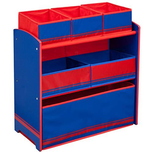 TW24 Kinderregal - Standregal - Spielzeugregal - Aufbewahrungsregal 6 Boxen mit Farbauswahl...