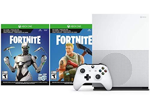 Microsoft Xbox One S Fortnite V-Bucks und Skin Bundle: 2.000 V-Bucks, Legendary Rare Eon Cosmetic Set und Xbox One S 1TB Konsole mit 4K Ultra HD Blu-ray (Xbox One Mit Spiele-bundle)