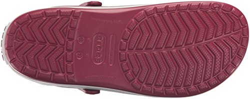 crocs Unisex-Erwachsene Crocband Clogs Rosa (Pomegranate/White)