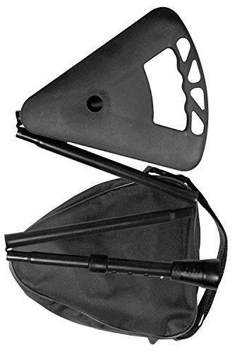 Flipstick Teleskop-Sitzstock faltbar schwarz mit Tasche