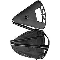 FLIPSTICK Faltbar, höhenverstellbar Gehstock mit Sitz–mit Schultertasche, schwarz