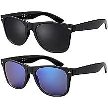 Nickelfrei 4,2 cm hoch Hutshopping Sonnenbrille Blues Brothers in schwarz gl/änzend Damen und Herren T/önungsklasse 3 Sommer get/önte Gl/äser 5 cm breit UV-Schutz 400