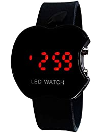 SPINOZA N01K010 Black Apple Shape Kid Analogue Watch For Boys And Girls