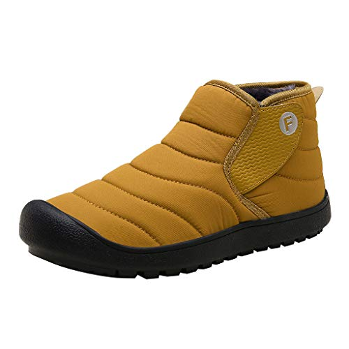 Aoogo Herren Damen Die Plus-Samt-warmen Wasserdichten Schnee Baumwoll Stiefel der Art- und Weisemänner im Freien Sneaker Sportschuhe rutschfeste Mode Stiefel