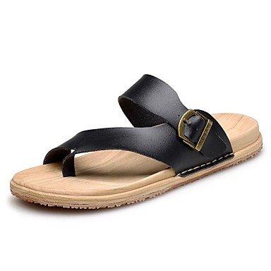 Scarpe da uomo in pelle Nappa Outdoor / Casual Outdoor / Casual Sandali Sport Tallone piano Vuoto-ou sandali US10 / EU43 / UK9 / CN44