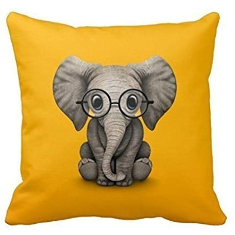 Elephant Pillow case/Kissenbezüge 18 X 18 Inches / 45 By 45 Cm Gift Or Decor For Couch,bar,gf,drawing Room,bedding,home Theater - Double Sides