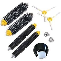 Ensemble de roulette de roue avant et kit de brosse pour iRobot Roomba 500 600 Série 700 529 550 595 620 625 630 650 660 760 770 780 790 Accessoires pour aspirateur