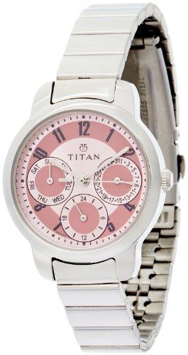 Titan Youth Analog Pink Dial Women's Watch - NE2481SM02