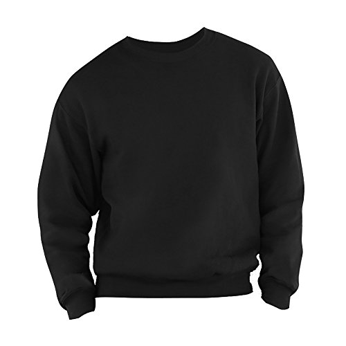 Fruit Of The Loom Mens Set-In Belcoro® Yarn Sweatshirt (L) (Black)