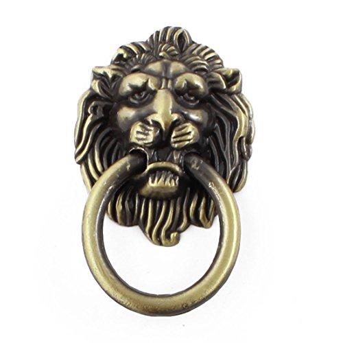 Sourcingmap a14082600ux0247 - Bronzo a forma di testa di leone in stile antico armadio maniglia manopola del tono
