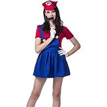 Vosujotis Donne In Costume Di Halloween Di Super Mario Carino Cosplay  Cartoon Completo 8767584150b