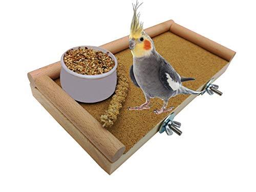 Vogel Sitzbrett Käfig Zubehör Barsch plattform für Wellensittiche, und Finken, Papageien, Dübelholz. Für die Ewigkeit gebaut. Es wird in jedem Käfig großartig aussehen! (Vogel-käfig-futter)