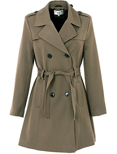 NEW LADIES BELTED MAC TRENCH COAT LINED 35
