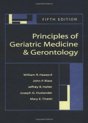 Principles of Geriatric Medicine and Gerontology by William Hazzard (2003-07-01)