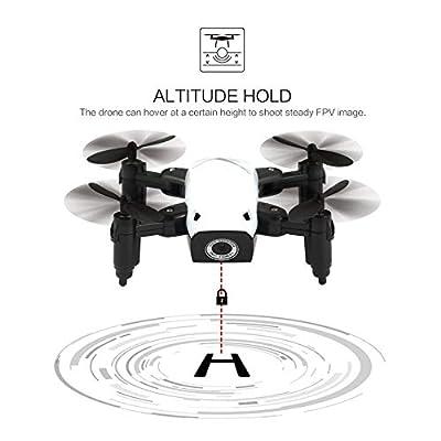 Nowakk S9W WIFI FPV 0.3MP Camera Mini Foldable Drone Atitude Hold Mode One-key Return 360 Degree Flip RC Quadcopter RTF