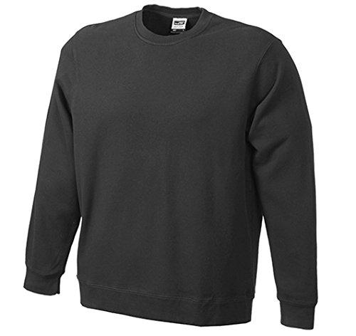Basic Sweat/James & Nicholson (JN 057) S M L XL XXL Black