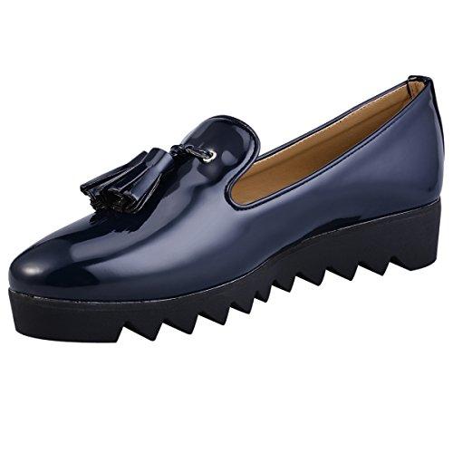 hengfeng-cuero-borla-barco-zapatos-41-eu-azul-oscuro