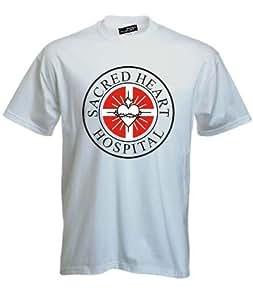 SCRUBS SACRED HEART HOSPITAL Fun Shirt S M L XL XXL 3XL 4XL 5XL (15 Farben), weiss, XL