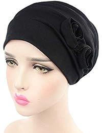 ZYCC Mujeres Cabeza Bufanda Sombrero Gorra Chemo Cáncer Étnicas Tela Imprimir Turbantes Gorros Estiramiento Flor musulmanes pañuelo