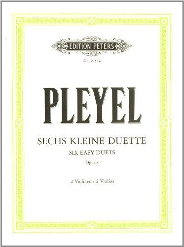 6 kleine Duette op. 8: für 2 Violinen