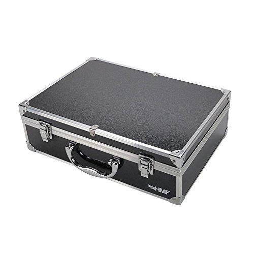 HMF 18711-02 Transportkoffer, Koffer passend für UDIRC U845 Drohne, bis zu 9 Akkus, 36 x 25 x 11,5 cm, schwarz - 2