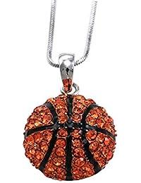 Aleación de Zinc de baloncesto SENFAI medio rojo colgante de cristal