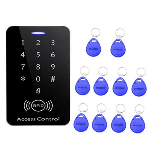 perfk RFID Tür Sicherheit Tor Eintrag Zutrittskontrollsystem mit 10 Schlüsselanhänger Wasserdicht (Türschloss-set Eintrag)