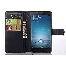 Apanphy Funda Xiaomi Redmi Note 2, Tapa de Cuero de La PU Case de la Cartera con Ranuras para Tarjetas Incorporadas Flip Cover para Xiaomi Redmi Note 2 Smartphone Case - Negro