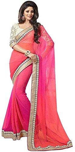 Saree(Gajri Fashion Saree For Women Party Wear Half Sarees Offer Designer Below...