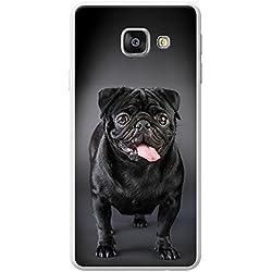 Funda con Pug negro, Samsung Galaxy A3 (2016) (A310F)