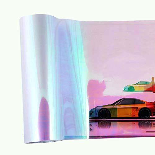 Auto-Außenaufkleber 120 * 30 cm Shiny Chameleon Auto Auto Styling Scheinwerfer Rücklichter Translucent Film Lichter Farbton Ändern Auto Schutzfolie Aufkleber Geeignet zum Wandern
