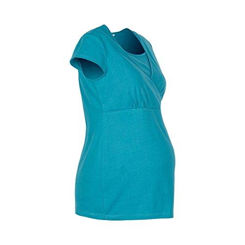 2HEARTS Le T-shirt de grossesse et d'allaitement T-shirt de grossesse T-shirt de grossesse Storm Blue