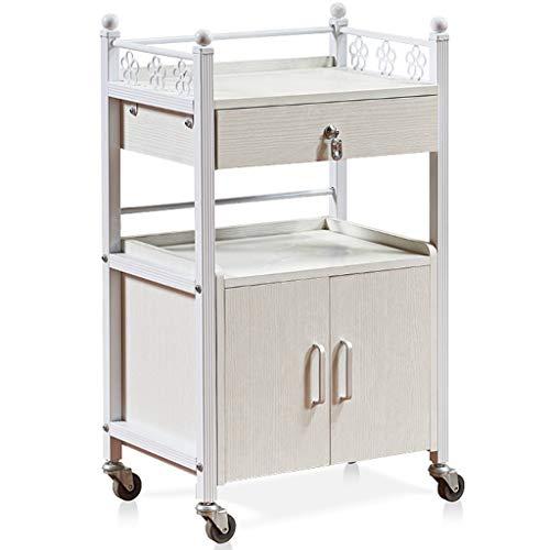 SuoANI Küchenwagen Rollwagen für Küche und Wohnzimmer,2-stufiger Rollwagen mit 1 Schublade,Küchenwagen | Teewagen Anthrazit