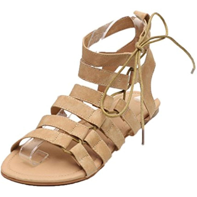 s Femmes Ete Ansenesna���� Femmes Bohême  s Gladiateur Plat Peep-Toe  s Chaussures Roman Strap... - B07CP7JDKY - 7fe16a