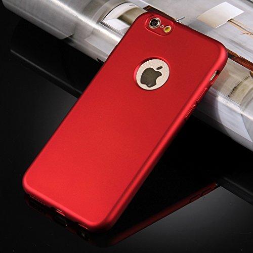 GHC Cases & Covers, Für iPhone 6 & 6s 360 Grad Vollschutz Soft TPU Rückseitige Abdeckung + PC Front Combination Case ( Color : Red ) Red