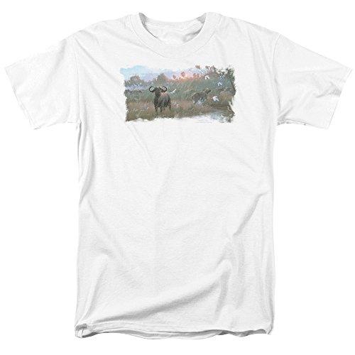 wildlife-wild-animals-nature-african-cape-buffalo-adult-t-shirt