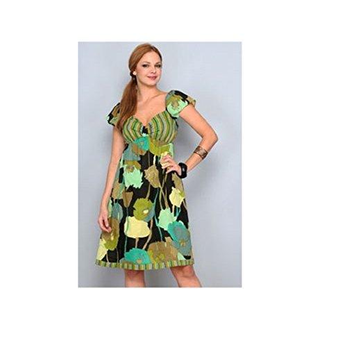 g-h-vestito-donna-verde-m
