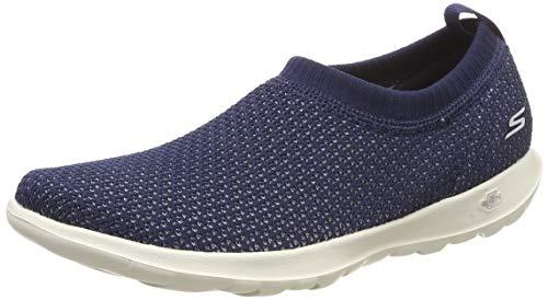 Skechers Women\'s GO Walk LITE-Eclectic Navy/White Nordic Walking Shoes-5 UK/India (38 EU)(15384-NVW)