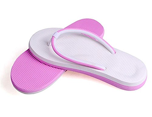 Minetom Unisex Schiuma Flat Flip Flops Slim Infradito e ciabatte da spiaggia EUROPE Taglia Pink