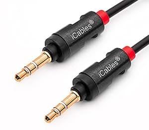 plaqu or c ble audio pour connecter lecteur mp3 portable haut parleurs plomb audio st r o. Black Bedroom Furniture Sets. Home Design Ideas