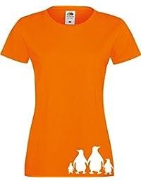 ShirtInStyle Lady T-Shirt lustige Tiere Pinguine,viele Farben, Größe XS-XXL