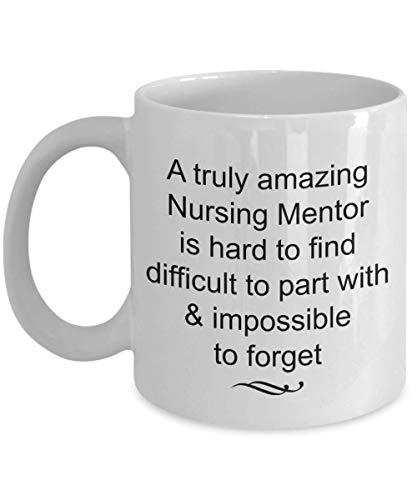 Dozili Lustige Kaffeetasse – Nursing Mentor Gifts – Truly Amazing and Impossible to Forget Tasse, Neuheit Dankeschön-Ideen, 325 ml, Whitefee Tasse