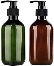 2pcs 500ml Refillable Pump Bottle PET Refillable Shampoo Bottles With Pump Bottles Conditioner Dispenser Empty