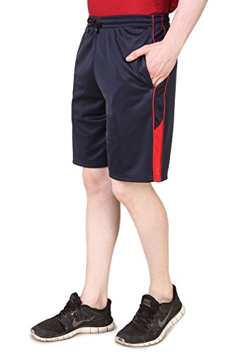 AMERICAN CREW Men's Polyester Navy Blue Shorts - L (AS009-L)