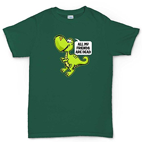 T-Rex Has No Friends Funny T-shirt DunkelGrŸn